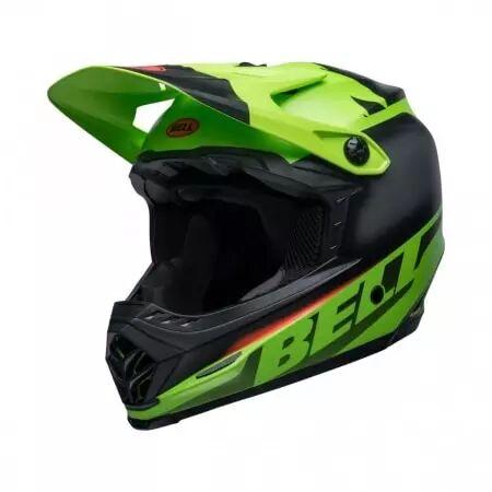 bell casque bell moto-9 youth mips vert noir rouge