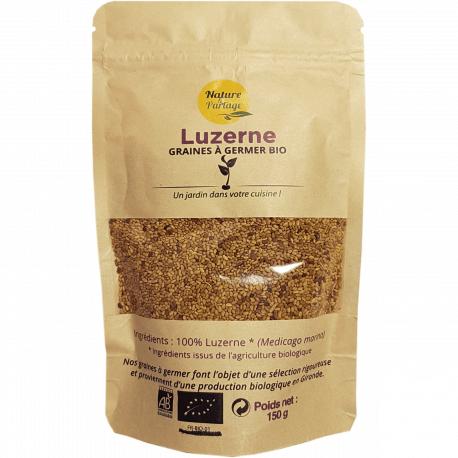 France Herboristerie Graines à germer bio de Luzerne (alfalfa) – 150 g