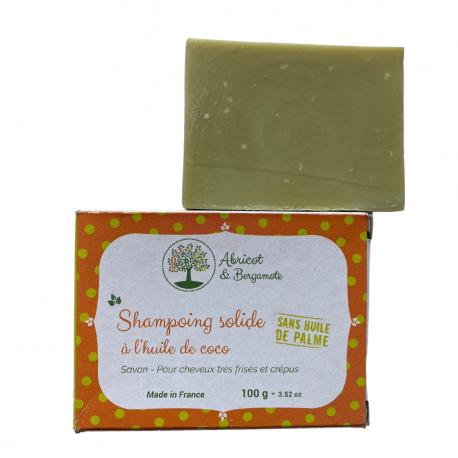 France Herboristerie Shampooing solide à l'huile de Coco - Cheveux frisés et crépus