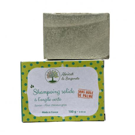 France Herboristerie Shampooing solide à l'Argile Verte - Cheveux gras