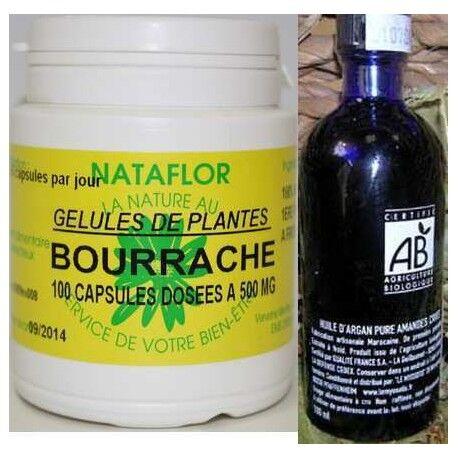 France Herboristerie Pack peaux sèches capsules bourrache+ huile argan BIO AB