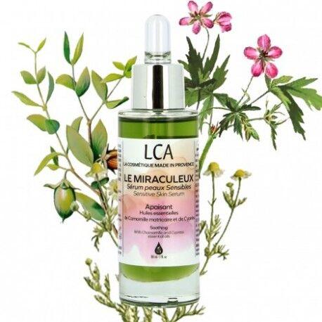 Laboratoire Combe d'Ase Le Miraculeux serum PEAUX SENSIBLES aux Huiles Essentielles 30 ml - LCA Aromathérapie