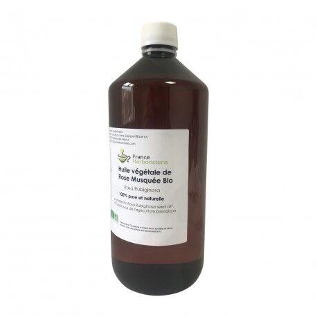 France Herboristerie Rose musquée Rosa rubiginosa huile 1 litre BIO AB
