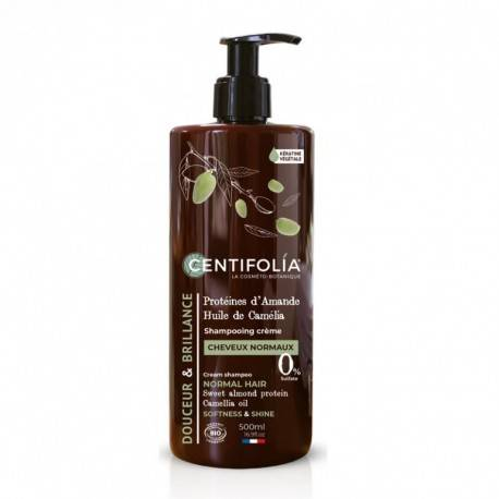France Herboristerie Shampooing crème cheveux normaux, 500ml - CENTIFOLIA