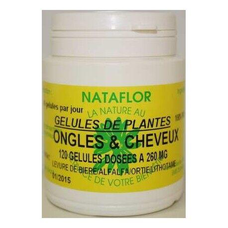 France Herboristerie Ongles et cheveux 120 gélules 260 mg poudre pure