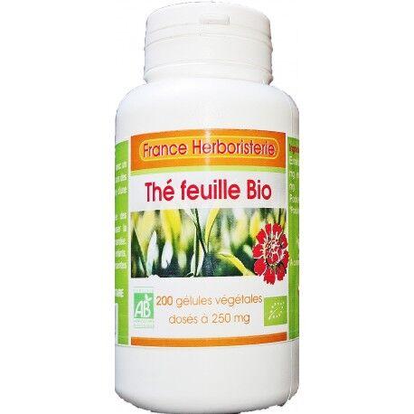 France Herboristerie 200 gélules THE VERT BIO AB dosées à 250 mg.