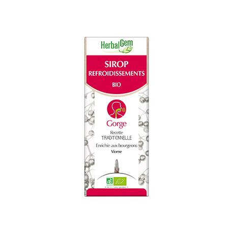 France Herboristerie HERBALGEM SIROP DES REFROIDISSEMENTS - gorge irritée - 250 mL