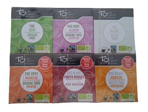 Coffret assortiment 6 boîtes de thé Bio - 48 sachets