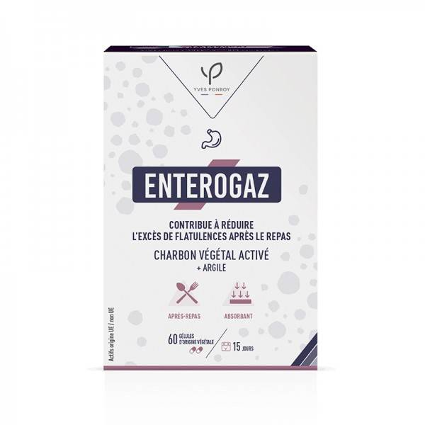 Enterogaz - Charbon végétal activé - 60 gélules