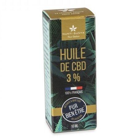 Huile de CBD 3% - Chanvre 100% bio et français - 10 ml