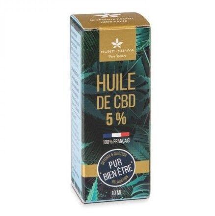 Huile de CBD 5% - Chanvre 100% bio et français - 10 ml