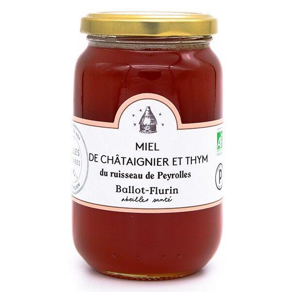 Miel de Châtaignier et Thym Bio - 480 g