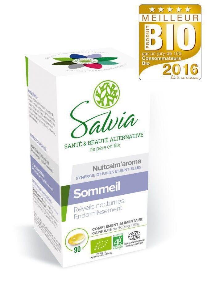 Nuitcalm'aroma huiles essentielles bio - 90 capsules