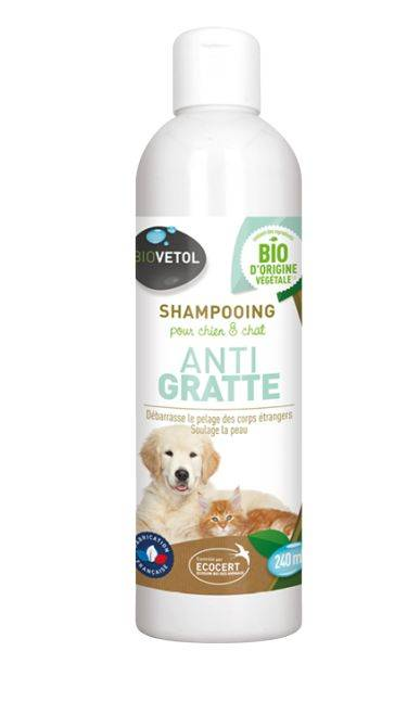 Shampoing Anti Gratte Chien et Chat - 240 ml