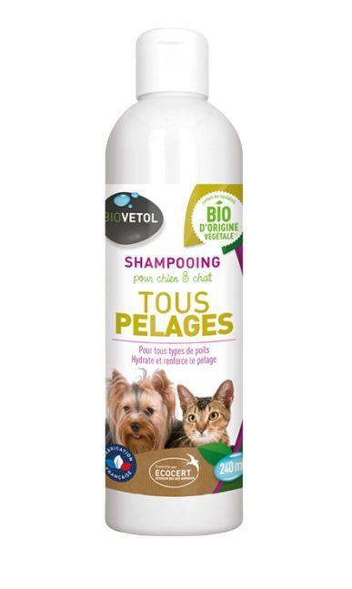 Shampoing Tous Pelages Bio Chien et Chat - 240 ml