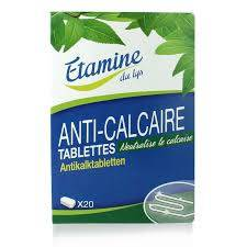 Tablettes anti-calcaire lave-linge - 20 tablettes - 360 gr