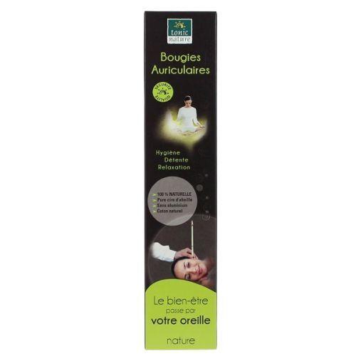 Bougies auriculaires pure cire d'abeille Nature - 2 unités