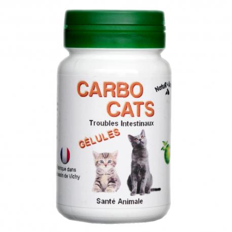 CarboCats - Charbon végétal pour chats - 30 gélules