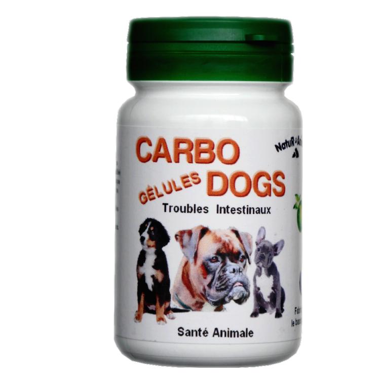 CarboDogs - Charbon végétal pour chiens - 60 gélules