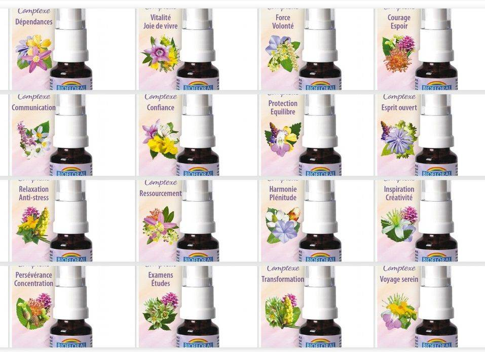 Elixir floral bio du Docteur Bach - 16 complexes Spray 20 ml