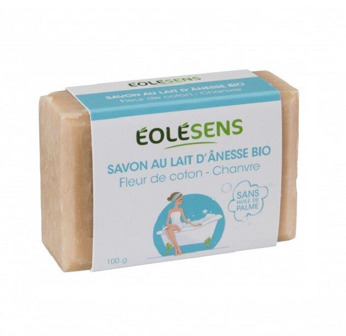 Savon Bio au lait d'Ânesse Fleurs de coton - 100g