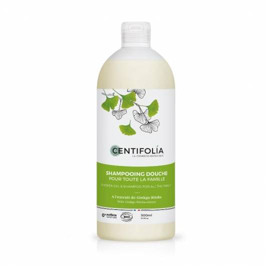 Shampoing douche pour toute la famille au ginkgo biloba - 500 ml