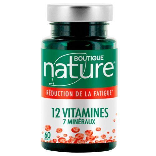 12 vitamines 7 minéraux d'origine naturelle - 60 gélules végétales