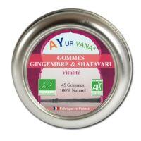 Gommes bio Gingembre et Shatavari - 45 gommes