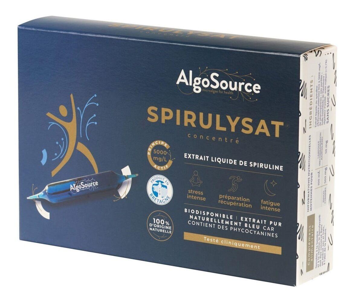 Spirulysat Concentré - Extrait liquide de spiruline - 20 ampoules de 10 ml