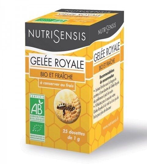 Gelée Royale fraîche Bio 100% - 25 dosettes de 1 g