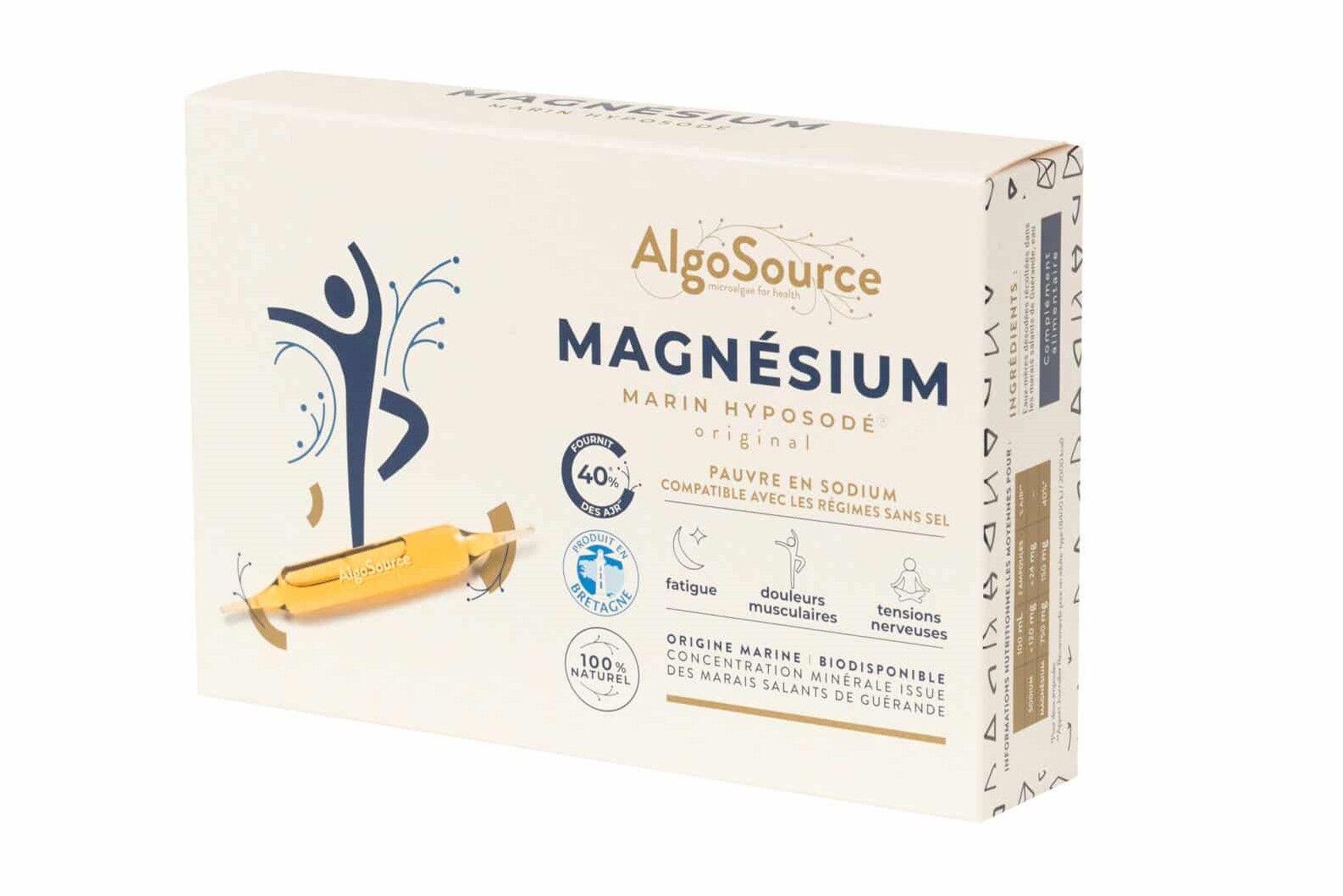 Magnésium Marin Hyposodé - Pauvre en sel - 20 Ampoules