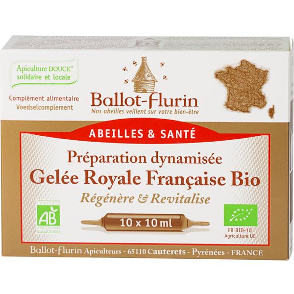Préparation dynamisée Bio Gelée Royale française - 10 ampoules