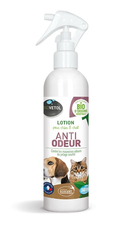 Lotion anti-odeur chien et chat Bio - 240 ml