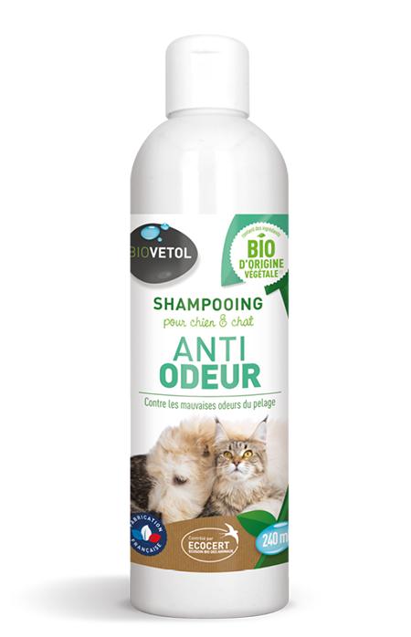 Shampoing Anti-odeur Chien et chat Bio - 240 ml
