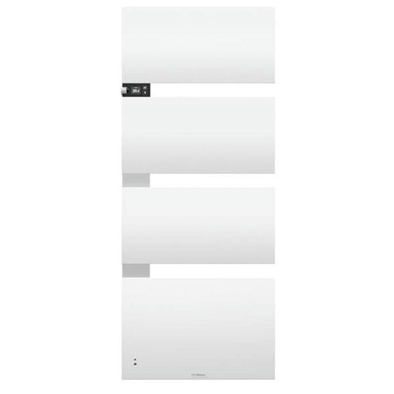 Thermor Sèche-serviettes Symphonik mât à gauche 750 + 1000W Blanc-Alu