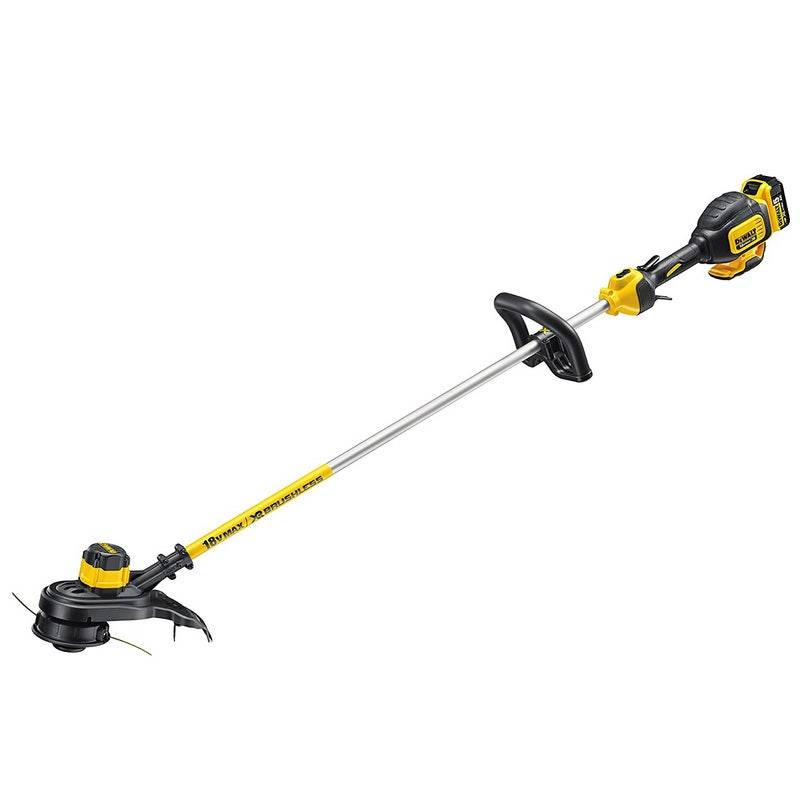 Dewalt Coupe-bordures 18V XR Brushless + chargeur + batterie 5Ah