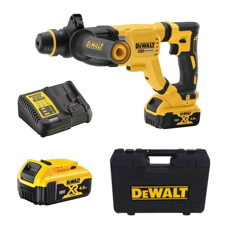 Dewalt Perforateur burineur SDS Plus brushless - XR 18V - 2 Batteries en coffret