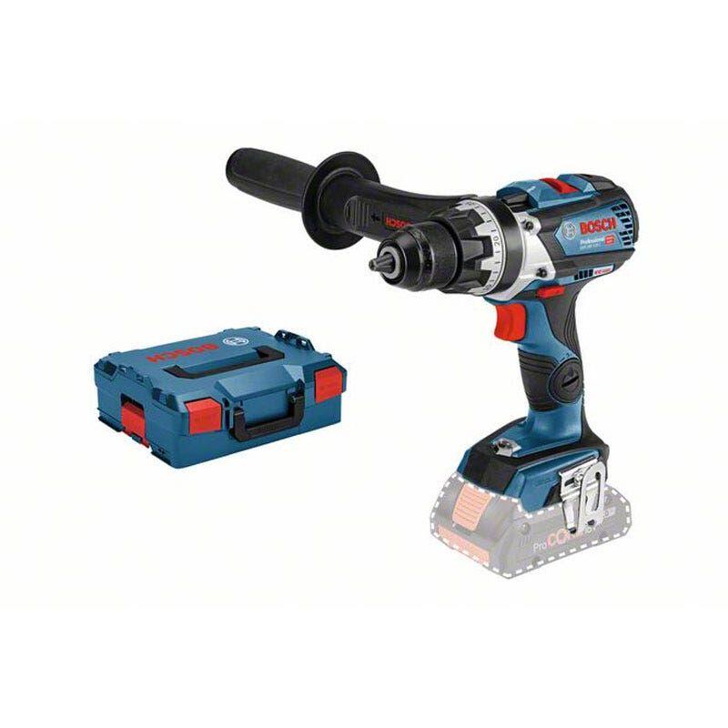 Bosch Perceuse-visseuse sans fil GSR 18V-110C (sans batterie ni chargeur) + 1 poignée supplémentaire + L-Boxx