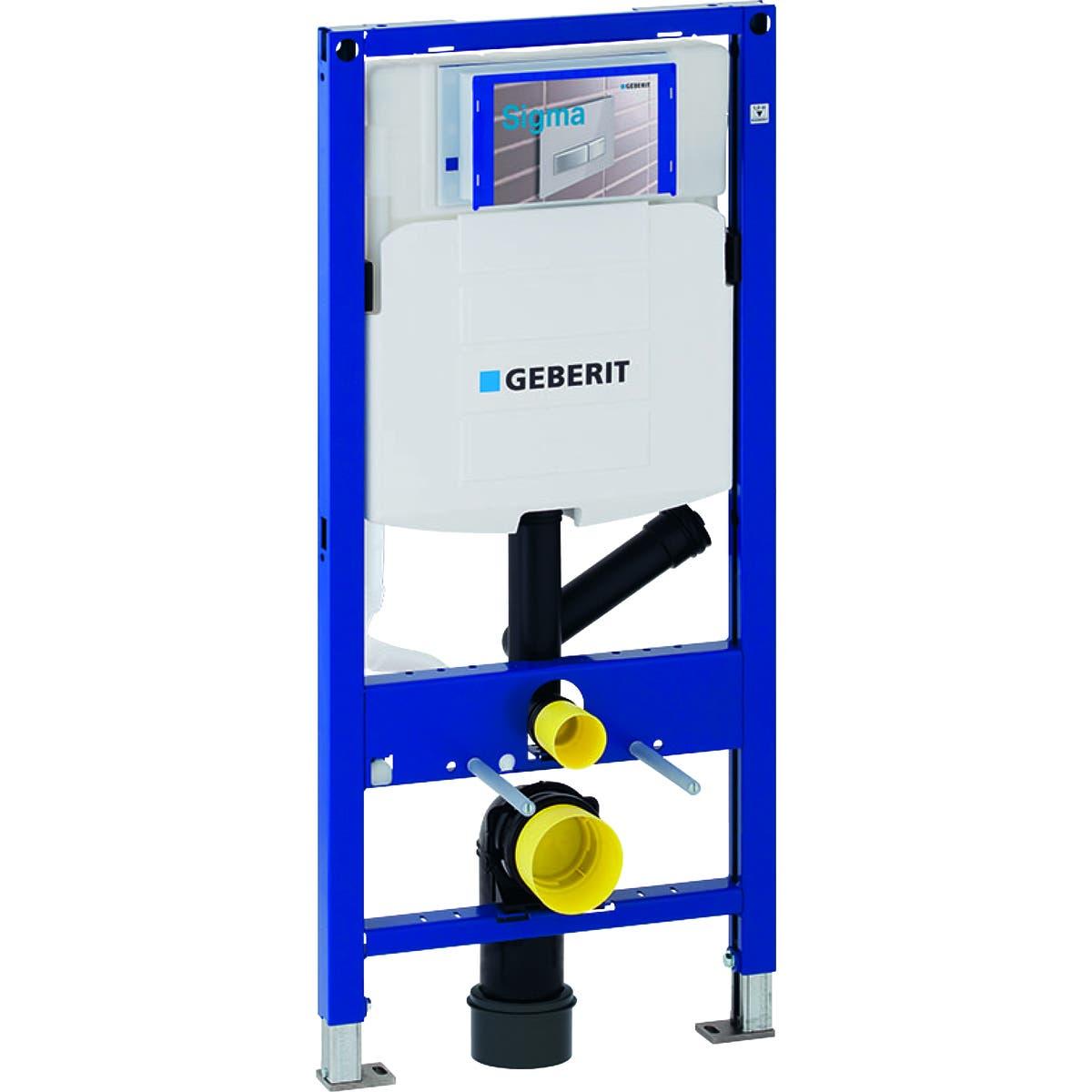 Geberit Bâti-support Geberit Duofix pour WC suspendu, 112 cm, avec réservoir à encastrer Sigma 12 cm, pour aspiration des odeurs avec extraction d'air Geberit 111.364.00.5