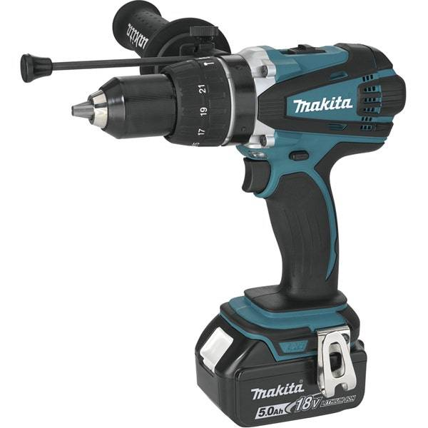 Makita Perceuse visseuse à percussion 18 V Li-Ion 5 Ah Ø 13 mm Makita DHP458RTJ