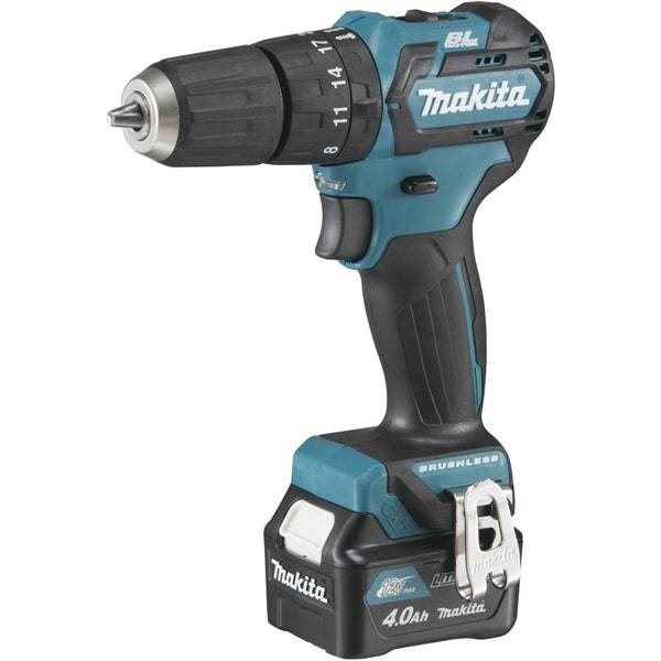 Makita Perceuse visseuse à percussion 12 V CXT Li-Ion 4 Ah Ø 10 mm Makita HP332DSMJ