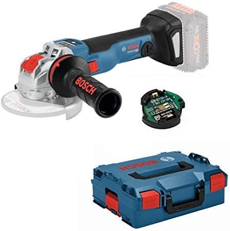Bosch Meuleuse angulaire sans fil GWX 18V-10 C x lock (sans batterie ni chargeur) + 1 module Bluetooth + accessoires + L-Boxx