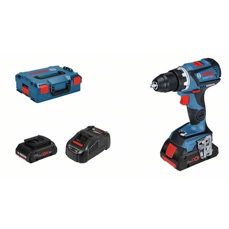 Bosch Perceuse-visseuse sans fil GSR 18V-60 C avec 2 batteries 18 V 4 Ah