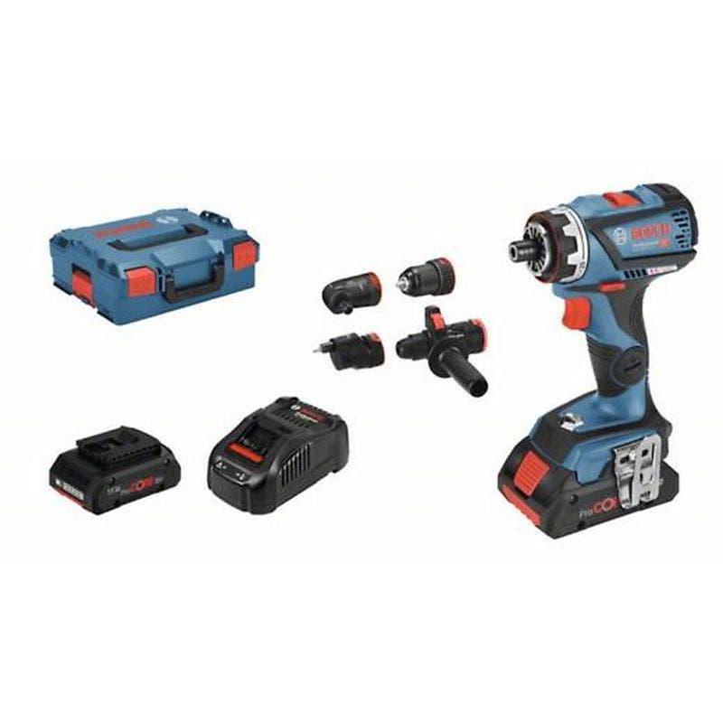 Bosch Perceuse-visseuse sans fil GSR 18V-60 FC + chargeur rapide + 2 batteries 4Ah + L-Boxx