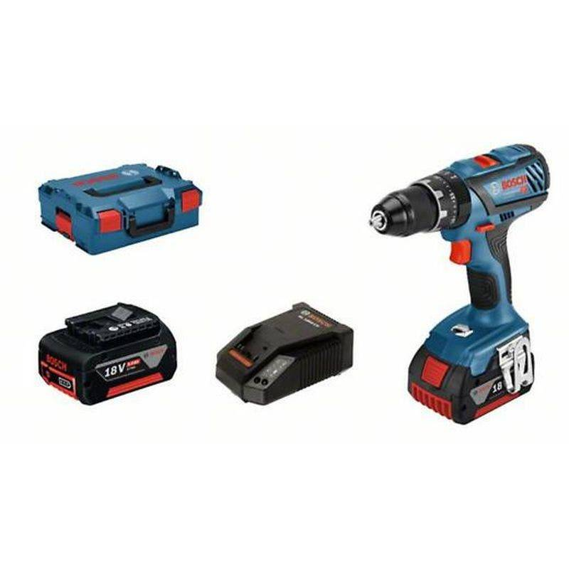 Bosch Perceuse-visseuse à percussion sans fil GSB 18V-28 avec 2 batteries 5 Ah