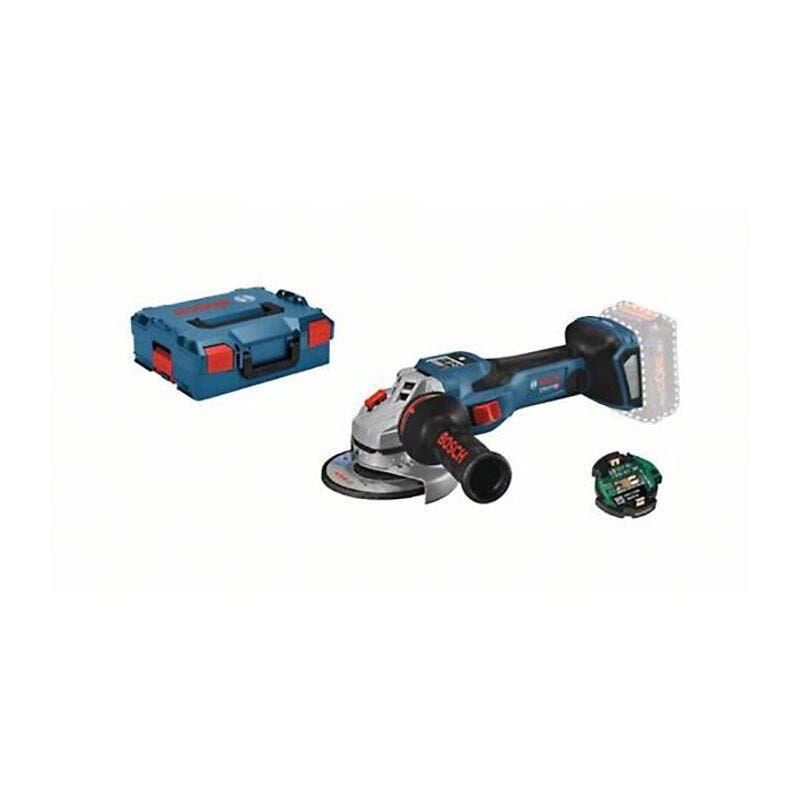 Bosch Meuleuse angulaire sans fil GWS 18V-15 SC Biturbo (sans batterie ni chargeur) + L-Boxx