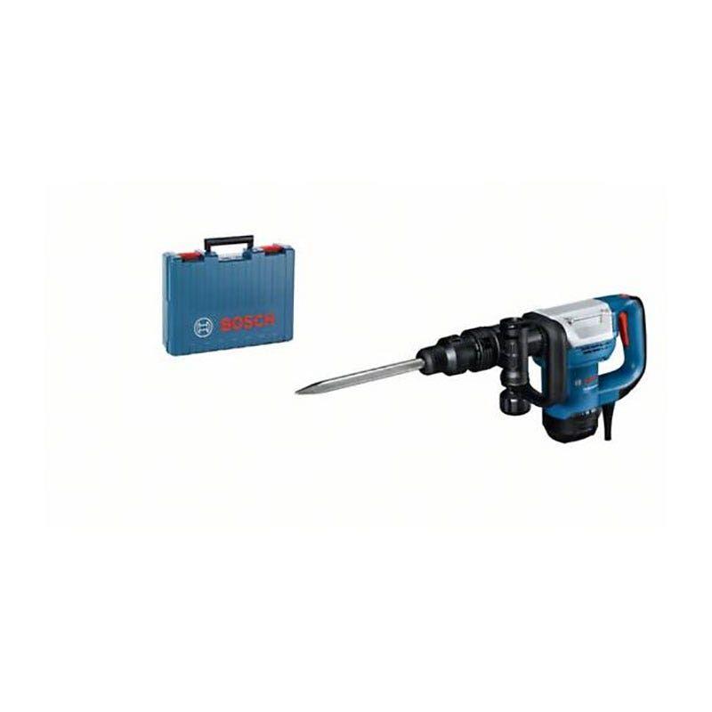 Bosch Marteau-piqueur filaire SDS max Gsh5 + 1 burin pointu SDS max 280mm + poignée supplémentaire + coffret