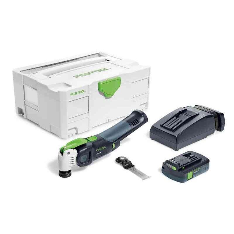 Festool Outil oscillant Vecturo OSC 18 E-Compact + 1 batterie 3.1Ah + chargeur rapide + 1 lame de scie + systainer