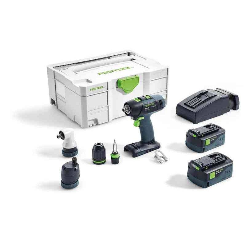 Festool Perceuse-visseuse sans fil T 18+3 Li 5,2-Set