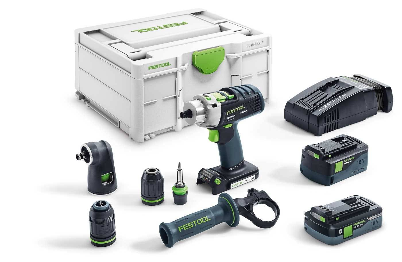 Festool Perceuse-visseuse à percussion sans fil PDC 18 5,2/4,0-Set/XL-SCA